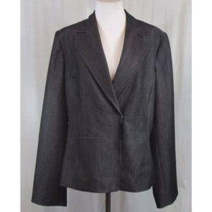 Calvin Klein Dark Gray Stretch Career Blazer 12